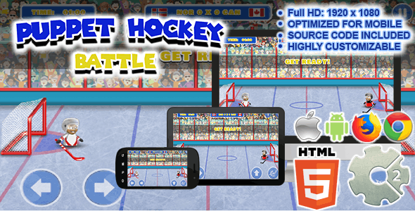 Puppet Hockey Battle ( Sport Game | HTML5 + CAPX )