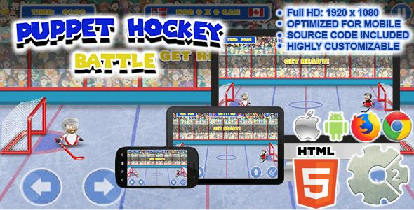 Puppet Hockey Battle ( Sport Game | HTML5 + CAPX )
