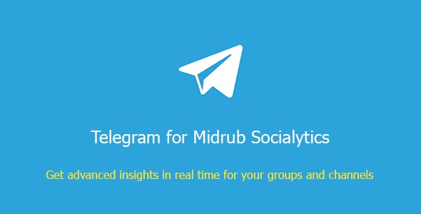 Telegram for Midrub Socialytics - CodeCanyon Item for Sale