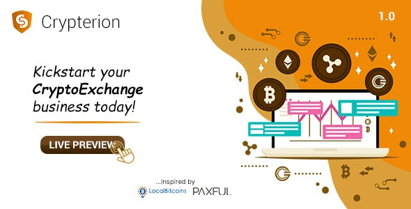 Crypterion - Multi-featured Cryptocurrency Exchange Software (with self-hosted wallets) - CodeCanyon Item for Sale