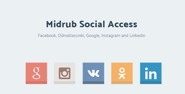 Midrub Social Access - Instagram, Odnoklassniki, VK, Linkedin and Google Access
