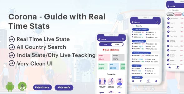 Covid - Guide with Real time Stats