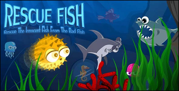 Rescue Fish Game (CAPX and HTML5)