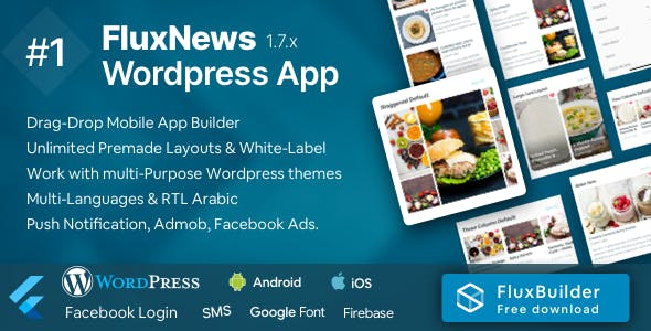 FluxNews - Flutter mobile app for Wordpress
