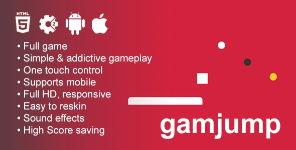 Gamjump - HTML5 Game Construct 2 - CodeCanyon Item for Sale