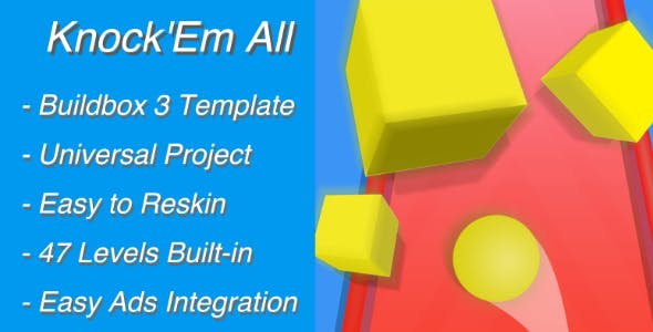 Knock'Em All 3D - BuildBox Template