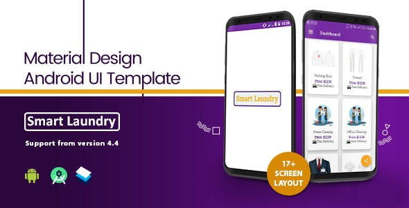 Smart Laundry - Android Template UI