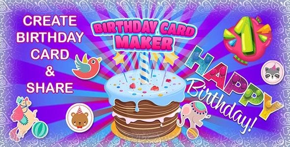 Birthday Card Maker App/web (CAPX | HTML5 | Cordova) - CodeCanyon Item for Sale