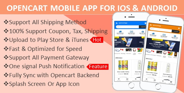 Opencart Mobile App for iOS and Android - CodeCanyon Item for Sale