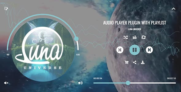 Luna Audio Player Plugin with Playlist and Audio Visualizer