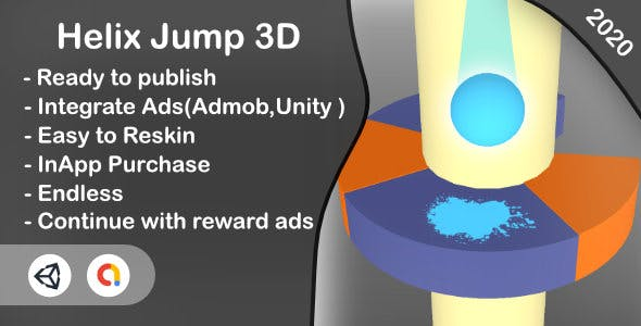 Helix Jump 3D (Unity Project+Android+iOS+Admob)