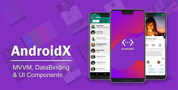 AndroidX – MVVM DataBinding Material Design UI Components - CodeCanyon Item for Sale