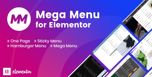 Mega Menu For Elementor