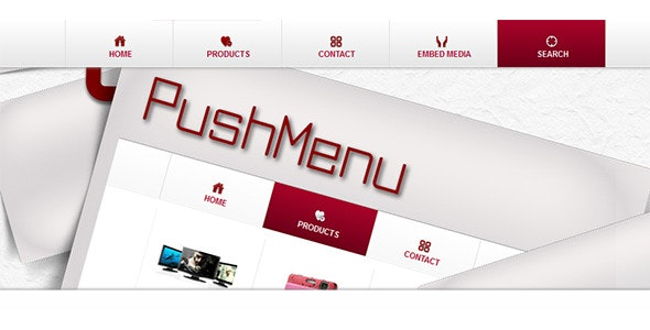 jQuery Push Menu - CodeCanyon Item for Sale