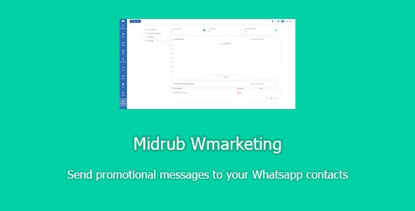 Midrub Wmarketing - send promotional messages to Whatsapp contacts