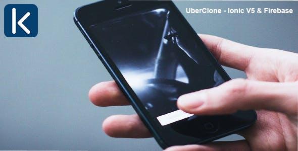 UberClone - Ionic V5 & Firebase