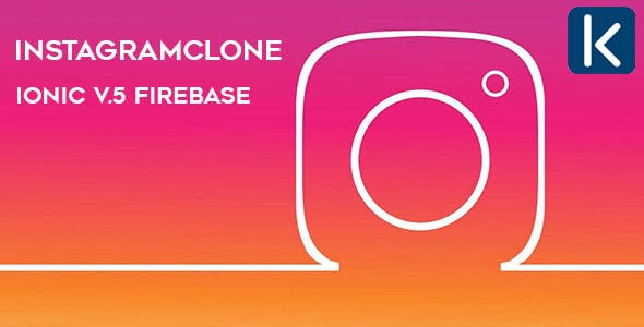 InstagramClone - Ionic V.5  & Firebase