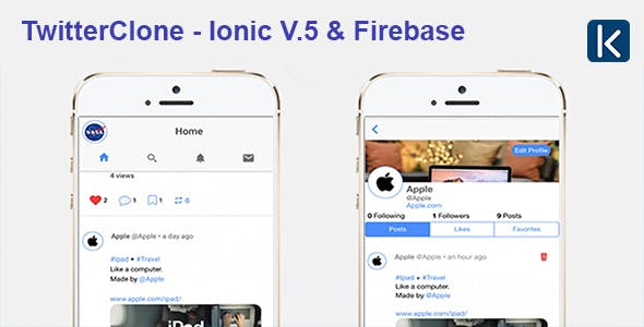 TwitterClone - Ionic V.5 & Firebase