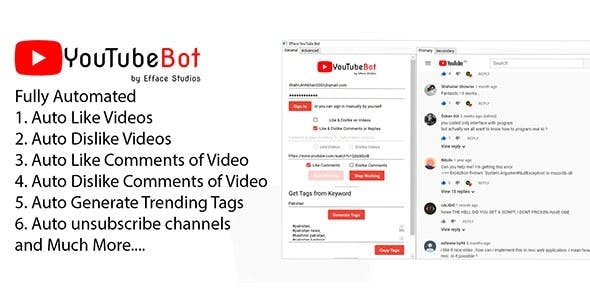 Efface YouTube Bot - Automate Your YouTube Experience