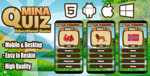 Mina Quiz - CodeCanyon Item for Sale