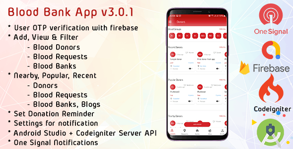 Blood Bank App With Admin Panel & Material Design v3.0.1 - CodeCanyon Item for Sale