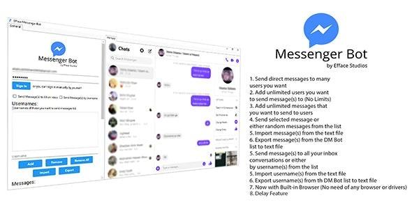 Efface Messenger Bot - CodeCanyon Item for Sale