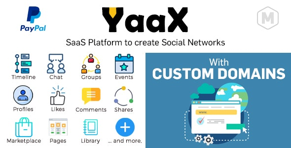 YaaX - SaaS platform to create social networks - With Custom Domains - CodeCanyon Item for Sale