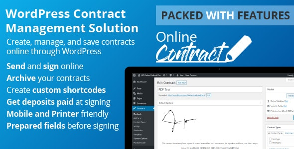 WP Online Contract - CodeCanyon Item for Sale