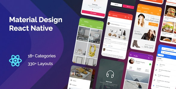 Material Design React Native - CodeCanyon Item for Sale