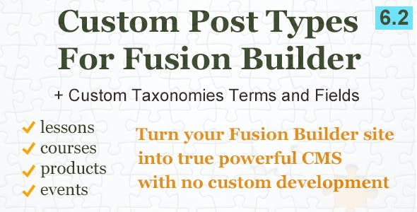 Custom Post Types and Taxonomies for Fusion Builder
