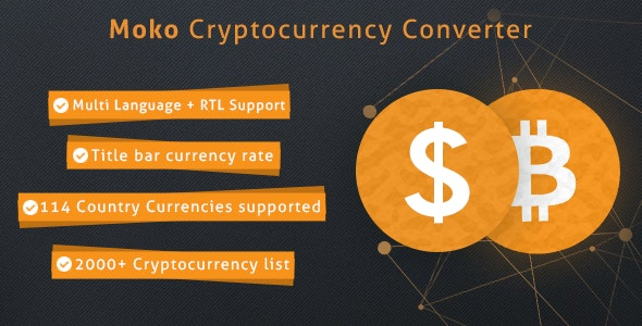 Moko Cryptocurrency Converter - CodeCanyon Item for Sale