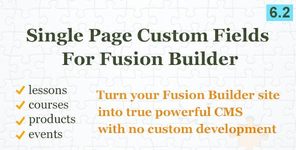 Custom Field Element for Fusion Builder