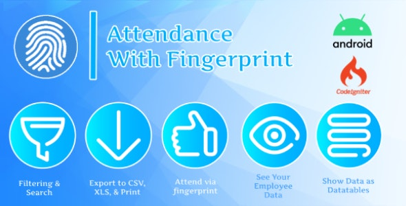 Attendance with Fingerprint (Android + System Management) - CodeCanyon Item for Sale