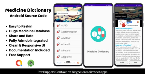 Drug Dictionary -  Android App - CodeCanyon Item for Sale