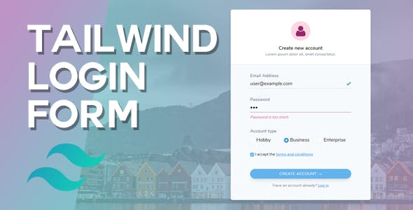 Tailwind Login Form