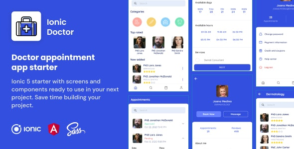 Ionic Doctor   Ionic 5   Angular   UI Theme   Template App   Starter App & Components - CodeCanyon Item for Sale