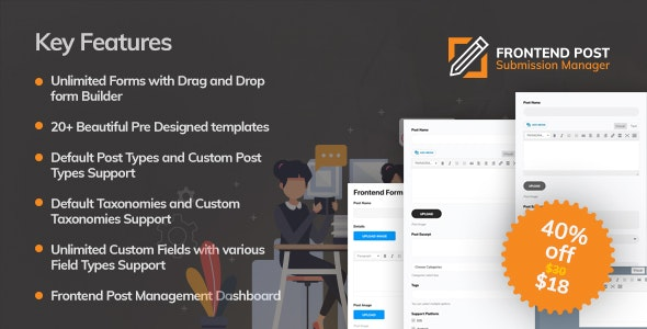 Frontend Post Submission Manager v1.3.3