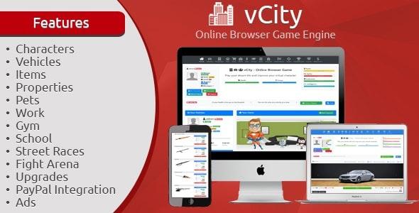 vCity - Online Browser Game Platform - CodeCanyon Item for Sale