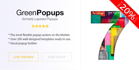 Popup Plugin for WordPress - Green Popups (formerly Layered Popups) - CodeCanyon Item for Sale