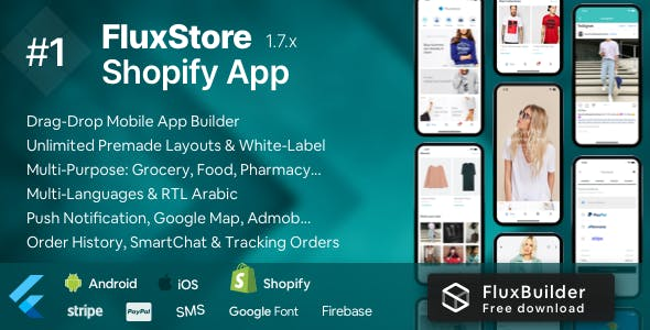 FluxStore Shopify - The Best Flutter E-commerce app