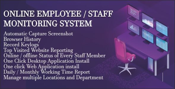 Employee Tracking System for Windows 7/8/10 - CodeCanyon Item for Sale