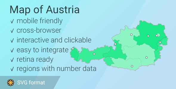 Map of Austria - CodeCanyon Item for Sale