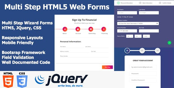 Multistep HTML Forms & Wizards - Multipurpose HTML Forms