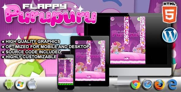 Flappy Purupuru - HTML5 Game - CodeCanyon Item for Sale