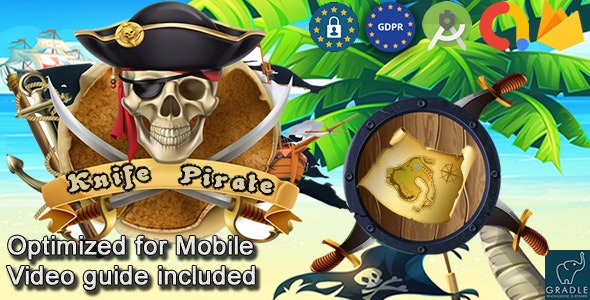 Knife Pirate (Admob + GDPR + Android Studio) - CodeCanyon Item for Sale