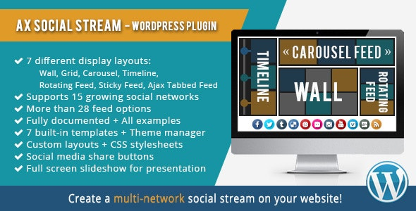 AX Social Stream - CodeCanyon Item for Sale