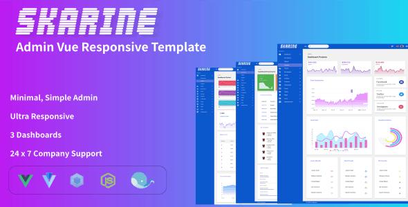 Skarine -Admin Vue Responsive Template