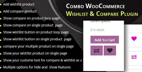 Combo WooCommerce wishlist & Compare plugin