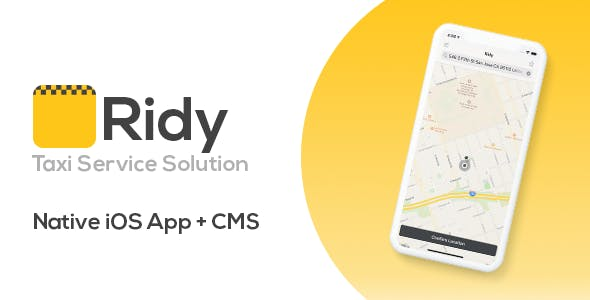 Ridy - Taxi Application iOS + Dashboard
