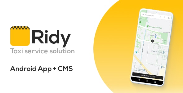 Ridy - Taxi Application Android + Dashboard - CodeCanyon Item for Sale